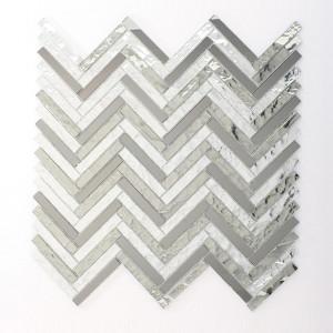 recycled glass- herringbone