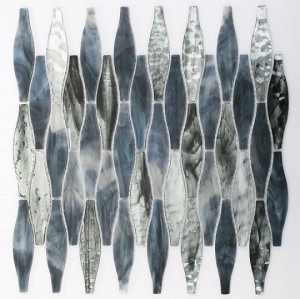 recycled glass- wave