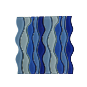 warterjet blue wave mosaic tile