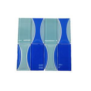 warterjet blue wave mosaic tile