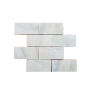 subway style marble tile