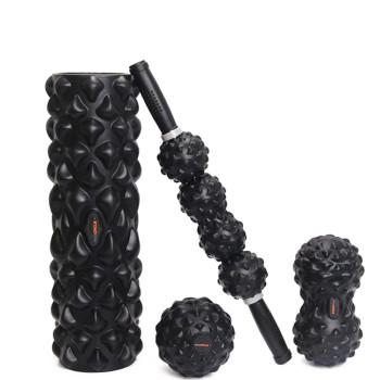 Black Tech Set Foam Roller Massage Stick balls