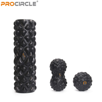 Self Design Black Tech Set Foam Roller Massage Stick balls Exclusive Supplier