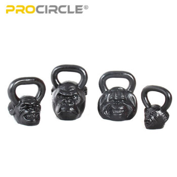 Power Training Cast Iron Kettlebell Squat