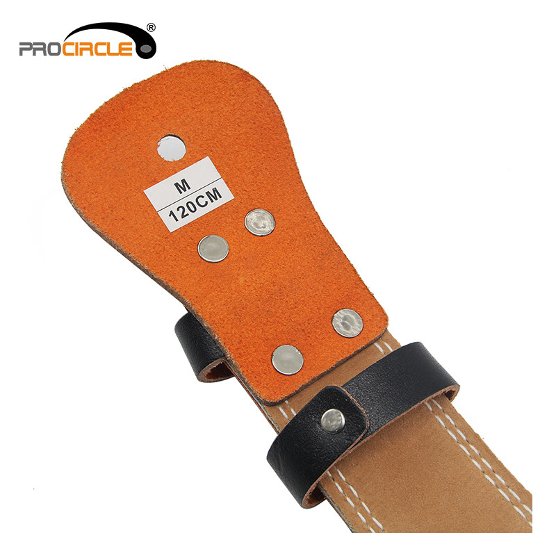 details of weightlifting leather belt