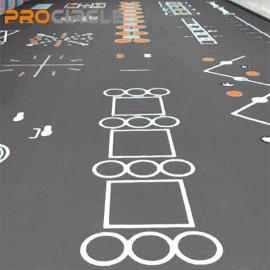 ProCircle PVCフィットネスフローリングカスタムフィットフロアマット