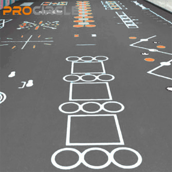 ProCircle PVC Fitness Flooring Custom Fit Floor Mats