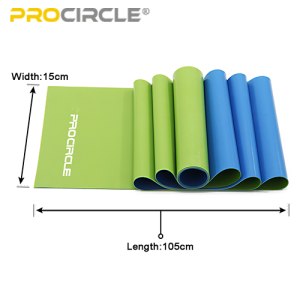 2019 Double Color Naturlatex Widerstand Yoga Stretch Loop Band