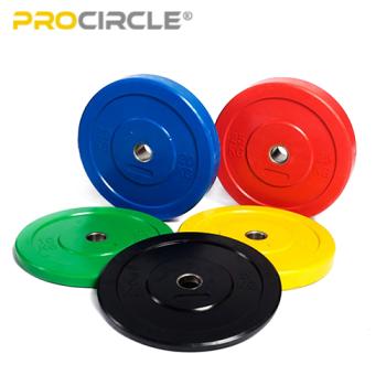 ProCircleフィットネスウェイトリフティングトレーニングPU Hi Tempバーベルバンパープレートセット販売