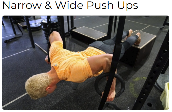 Narrow&Wide Push Ups