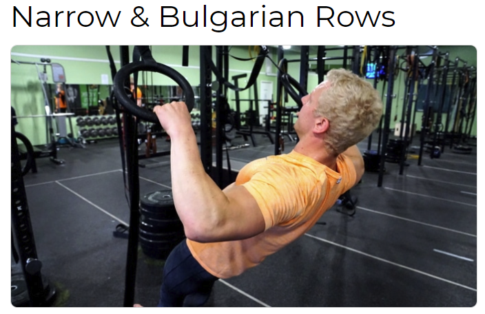 Narrow & Bulgarian Rows