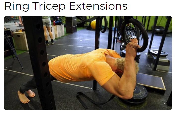 Ring Tricep Extensions