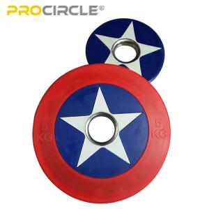 ProCircle Bumper Plates Set Captain America Shield Hi Temp Plates for Sale
