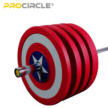 ProCircle Bumper Plates Set Captain America Shield Hi Temp Plates for Sale