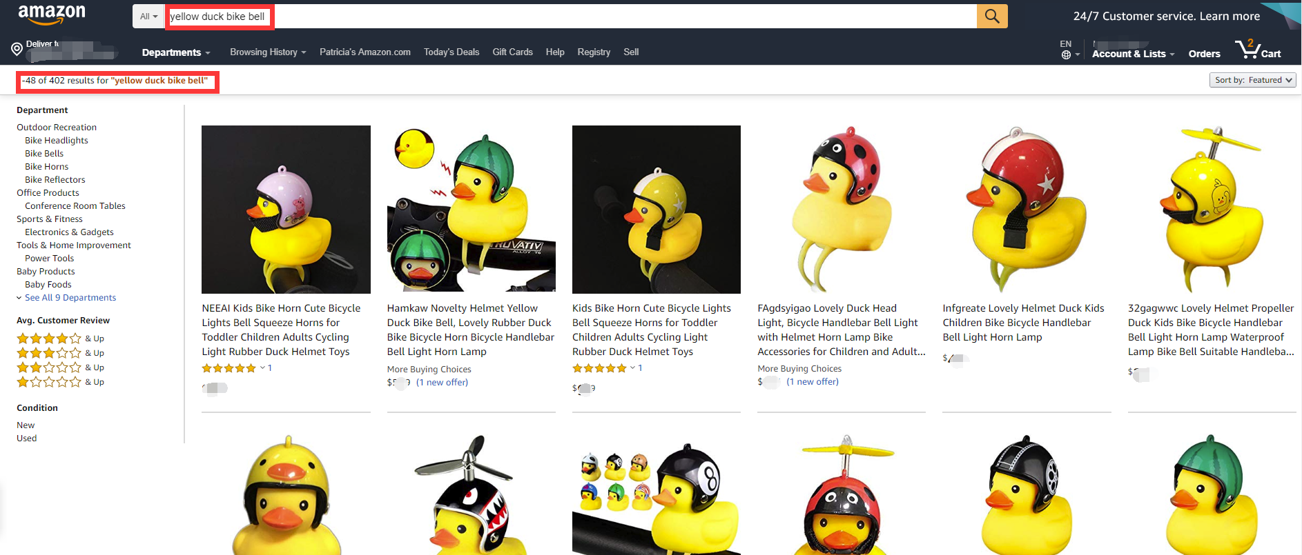 pato amarillo en amazon