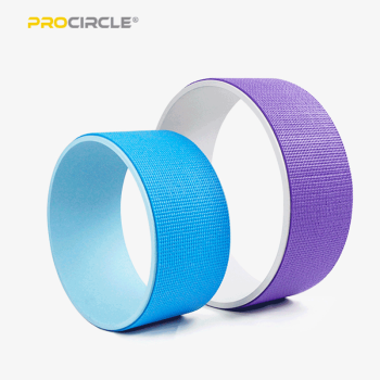 ProCircle Yoga s'étire sur la roue de yoga pour la vente en gros de ABS revêtu