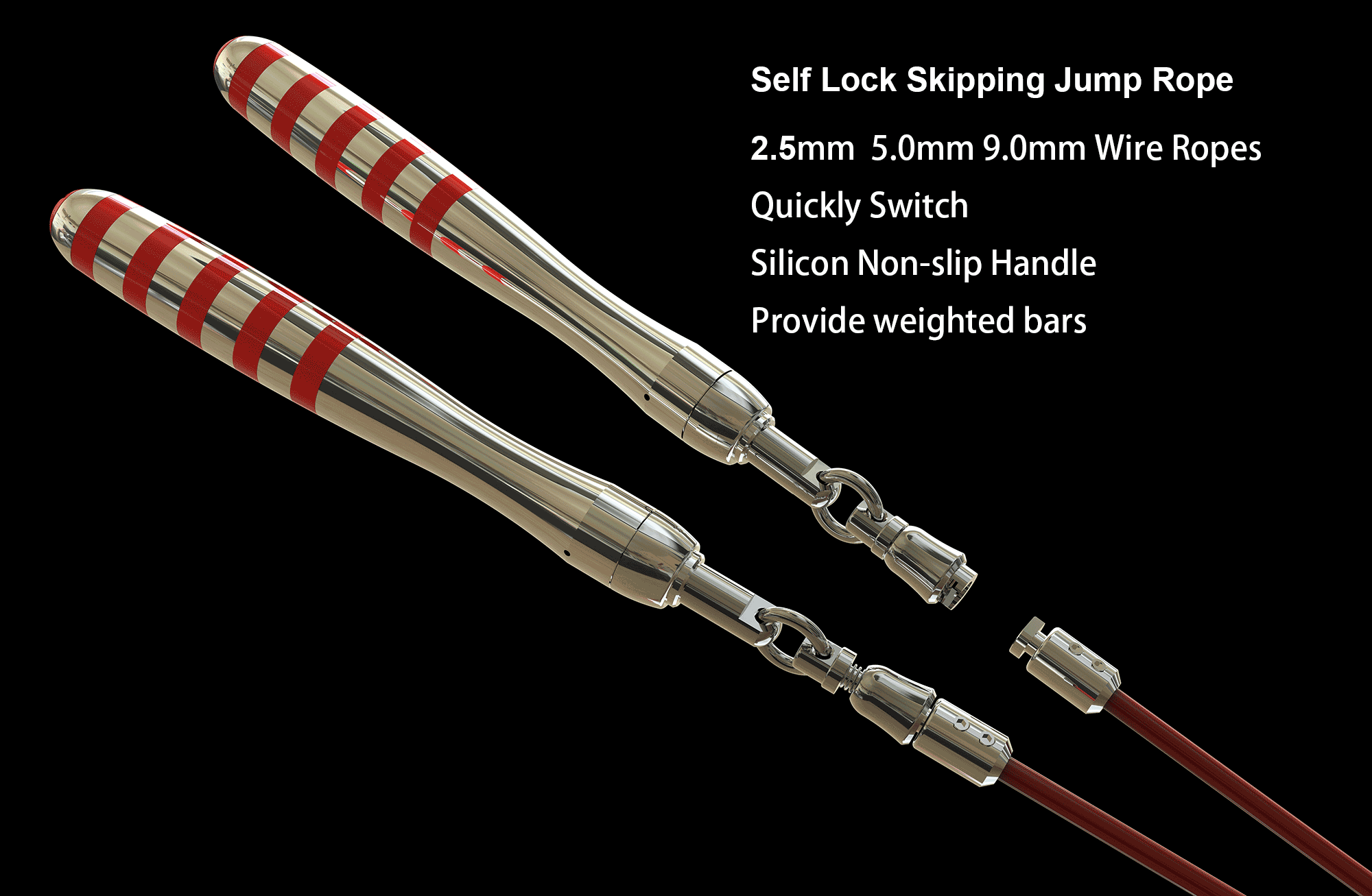 self locking jump rope