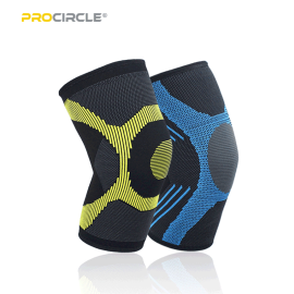環境に優しいProCircle圧縮膝スリーブ竹炭繊維