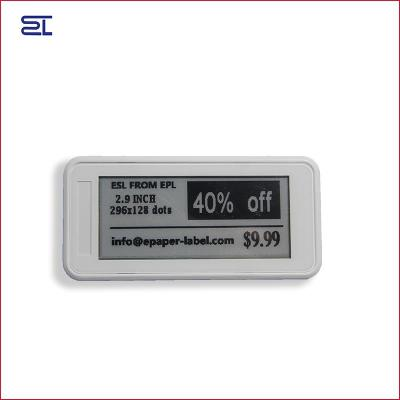 2.9inch bluetooth 5.0 digital price tag E-ink Electronic Shelf Label for warehouse