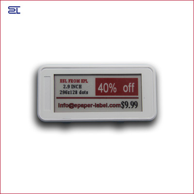 2.9inch bluetooth 5.0 white black & red 3 colors digital price tag Eink Electronic Shelf