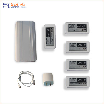 Bluetooth 5.0 white black digital price tag E-ink Electronic Shelf Label demo kit
