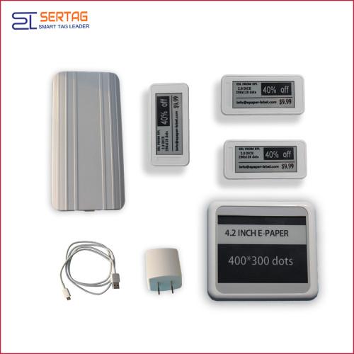 Bluetooth  digital price tag E-ink Electronic Shelf Label demo kit
