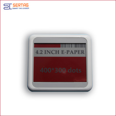 4.2 inch bluetooth 5.0 white black red  digital price tag E-ink Electronic Shelf Label for warehouse