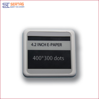 4.2 inch bluetooth 5.0  white black  digital price tag E-ink Electronic Shelf Label for retail