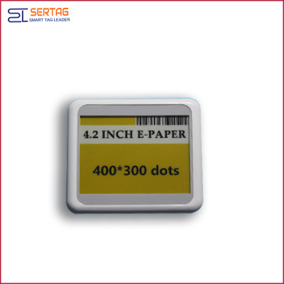 4.2 inch bluetooth 5.0  white black yellow digital price tag E-ink Electronic Shelf Label for retail