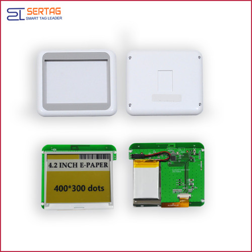 4.2 inch bluetooth 5.0  digital price tag e-ink electronic shelf label for retail