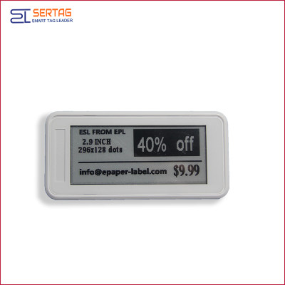 2.9inch bluetooth 5.0 digital price tag E-ink Electronic Shelf Label for healthcare