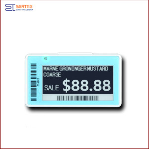 2.13inch  digital price tag E-ink Electronic Shelf Label with black white and yellow