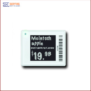 1.54 inch  digital price tag E-ink Electronic Shelf Label with black white and yellow  for retail