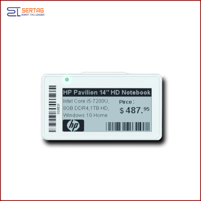 2.13inch  digital price tag E-ink Electronic Shelf Label with black and white  for retail