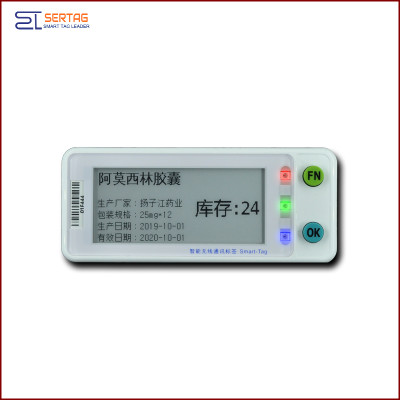 2.9 inch  digital price tag E-ink Electronic Shelf Label   for warehousing