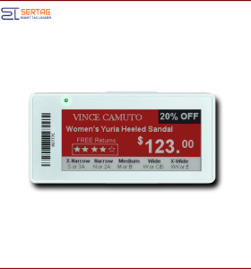 2.9 inch wireless transmission electronic paper price labels  electronic shelf labels