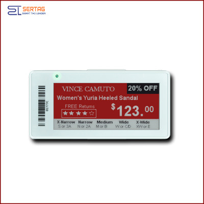 2.9 inch  digital price tag E-ink Electronic Shelf Label with black white and red