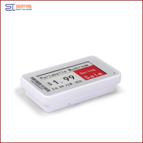 2.13inch 2.4G wireless   digital price tag e-ink electronic shelf label with black  white and red