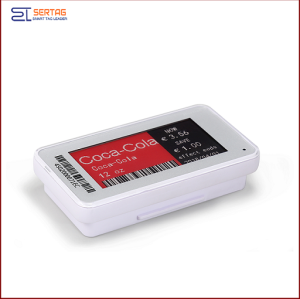 2.13   inch 2.4G wireless   digital price tag E-ink Electronic Shelf Label with black   white and red