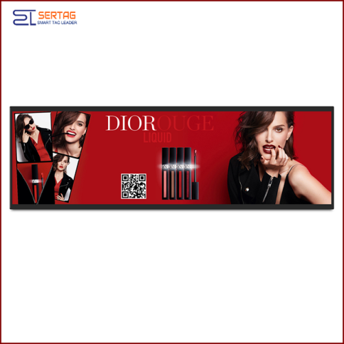 29inch Digital Signage Stretched LCD Bar Display Shelf Edge LCD Display for Supermarket Advertising