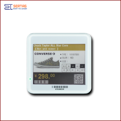 4.2 inch  digital price tag E-ink Electronic Shelf Label with black   white  and yellow