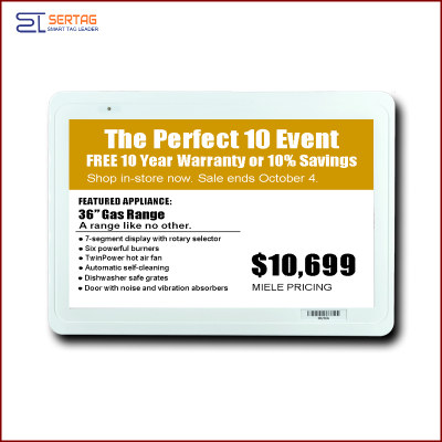 7.5 inch  digital price tag E-ink Electronic Shelf Label with black white and yellow