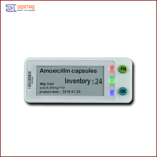 2.9 inch  digital price tag e-ink electronic shelf label with two buttons for warehousing