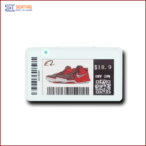 2.13inch  tricolor digital price tag E-ink Electronic Shelf Label  for retail