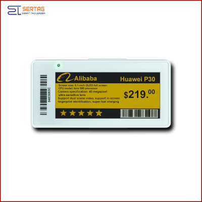 2.9 inch  digital price tag E-ink Electronic Shelf Label with black white and yellow    for retail