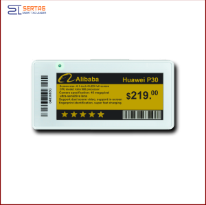 2.9 inch  digital price tag E-ink Electronic Shelf Label with black and  white   for retail