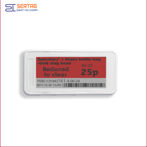 2.9inch  bluetooth esl  supermarket digital shelf label price tags