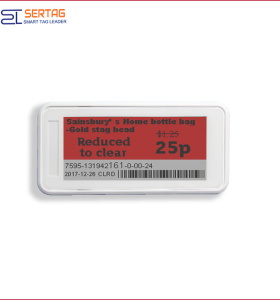 2.9inch electronic shelf label bluetooth esl with e-ink price tag