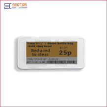 2.9inch 296*128 Resolution  electronic shelf labels digital price tags with lcd display for retail