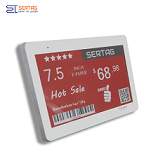 7.5 inch 2.4G wireless digital price tag E-ink Electronic Shelf Label with black white and red